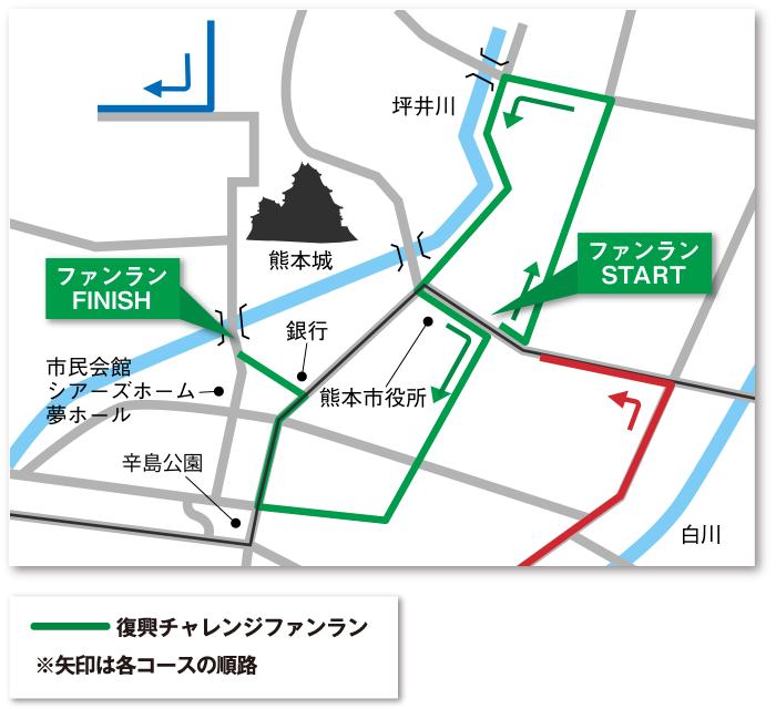 熊本城チャレンジランマップ