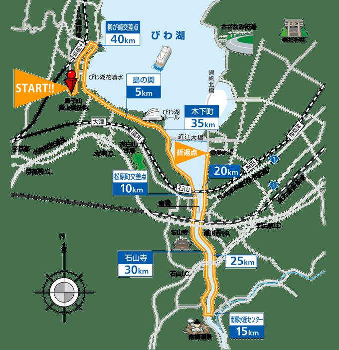 びわ湖毎日マラソン大会コース