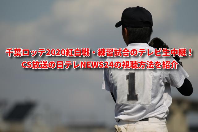 千葉ロッテ2020紅白戦・練習試合のテレビ生中継! CS放送の日テレNEWS24の視聴方法を紹介
